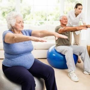exercising elderly